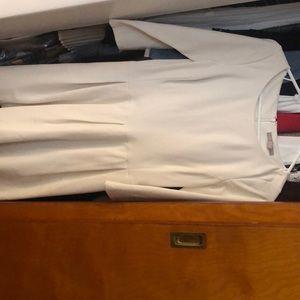 White, three quarter sleeve Banana Republic dress